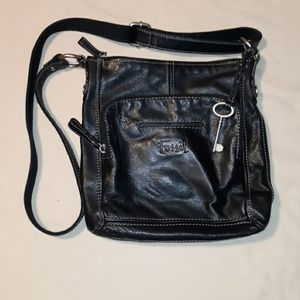 Fossil black crossbody purse